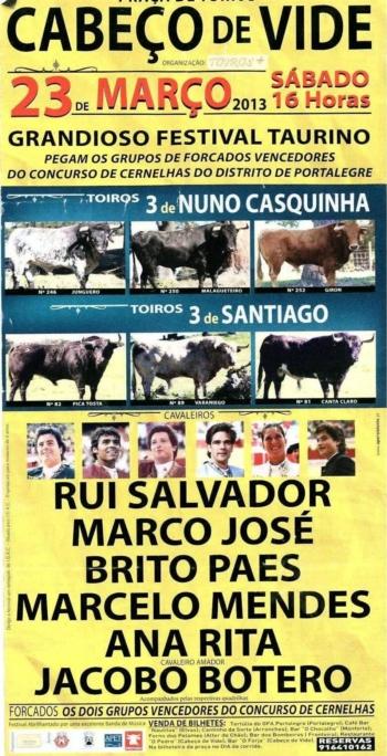 Cartaz do Festival de Cabeço de Vide