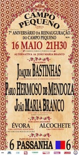 Crónica em directo da corrida de alternativa de João Maria Branco no Campo Pequeno