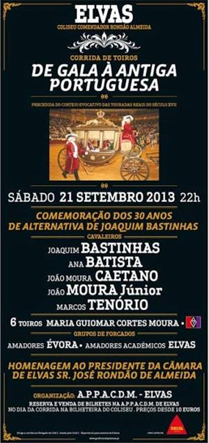 Elvas, Corrida de Gala à Antiga Portuguesa