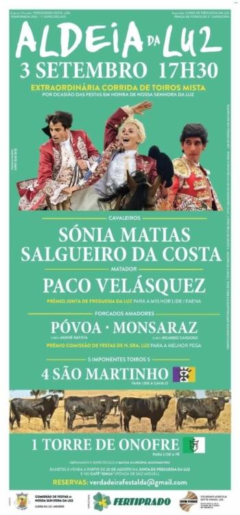 Paco Velasquez amanhã na Aldeia Da Luz