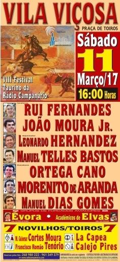 VIII Festiva Taurino da Rádio Campanário a 11 de Março