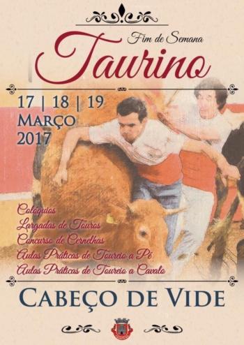 Cabeço de Vide: 17 a 19 de Março Fim-de-Semana Taurino