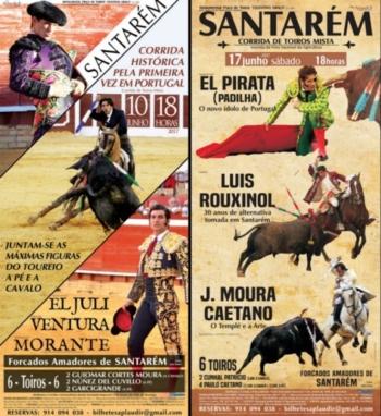 O cartaz da feira de Santarém