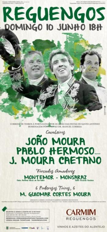 Cartaz da corrida de Santo António em Reguengos