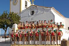 Treino público do GFA da Póvoa de São Miguel e do GFA Aposento Barrete Verde de Alcochete