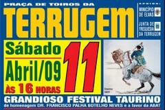 Festival Taurino na Terrugem dia 11 de Abril ás 16 horas