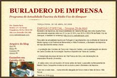 BURLADERO DE IMPRENSA - ESPECIAL - Sinopse 29 de Abril