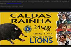 Caldas da Rainha 24 de Maio - 1ª Corrida LIONS