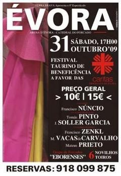 Vá aos Toiros e seja Solidário...Festival Taurino de Beneficiência em Évora