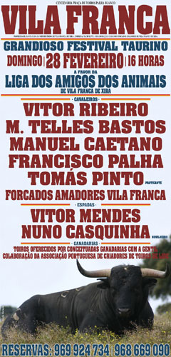 Festival Taurino a favor da Liga dos Amigos dos Animais de Vila Franca