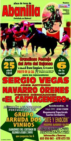 Amadores de Arruda dos Vinhos encerrar-se com 6 toiros em Abanilla (Murcia)