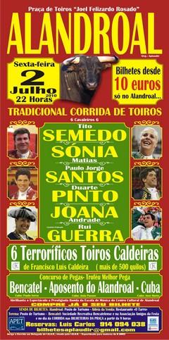 Toiros a 2 Julho no Alandroal com um cartel
