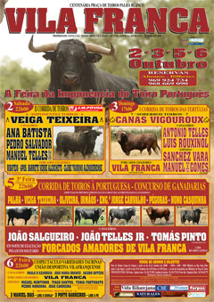 Inicia Sábado a Feira Taurina de Vila Franca