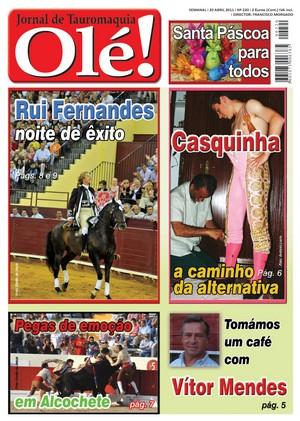 Semanário Taurino Olé! já nas bancas
