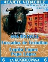 Ana Batista actua hoje em Acajete Veracruz