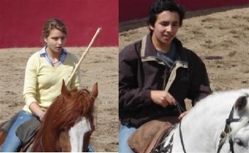 Rouxinol Jr. e Mara Pimenta em preparação para o Festival Taurino de Redondo
