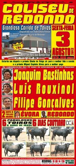 Ases das Bandarilhas frente a toiros Dias Coutinhos de 5 anos em Redondo