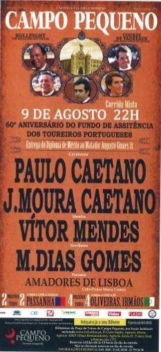No Campo Pequeno a noite foi de Paulo Caetano e Manuel dias Gomes