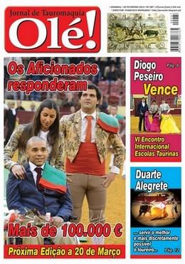 Olé! Jornal de Tauromaquia nº 287 nas bancas!