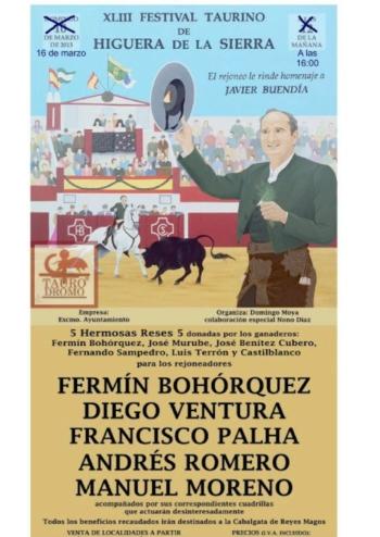 Francisco Palha dia 16 em Higuera De la Sierra (Espanha)