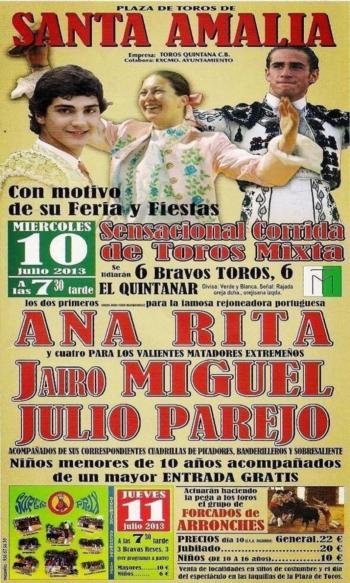 Ana Rita e Amadores de Arronches dia 10 de Julho em Santa Amalia (Espanha)