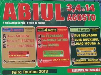 Cartéis da Feira de Abiúl 2013
