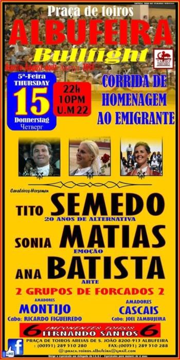 Corrida de Homenagem ao Emigrante, Albufeira, 15 de Agosto