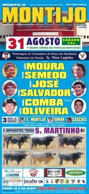 Montijo, Sorteio de bilhetes para este Sábado 31.AGO