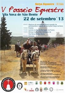 V Passeio Equestre dia 22 de Setembro, em Vila Nova de S. Bento