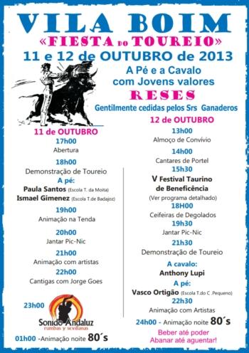 Programa do V Festival de Beneficência de Vila Boim