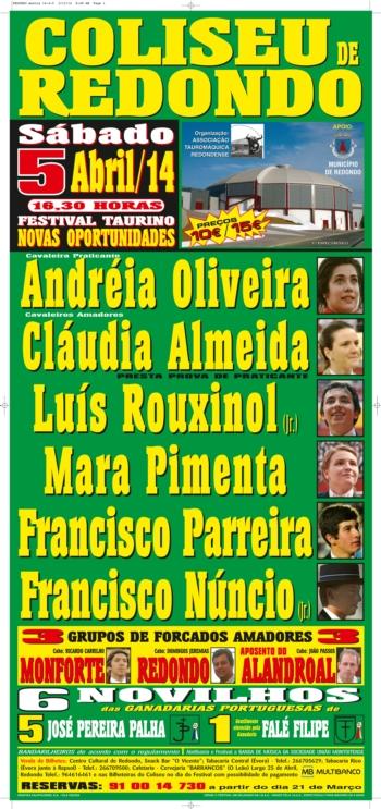 Festival Taurino Novas Oportunidades, no Redondo