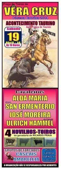 Acontecimento Taurino em Vêra Cruz (Portel) dia 19 de Abril
