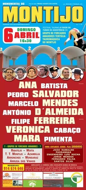 Domingo Taurino - Festival no Montijo, dia 6 de Abril