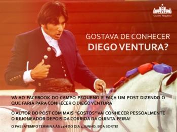 Passatempo: Gostava de Conhecer Diego Ventura?
