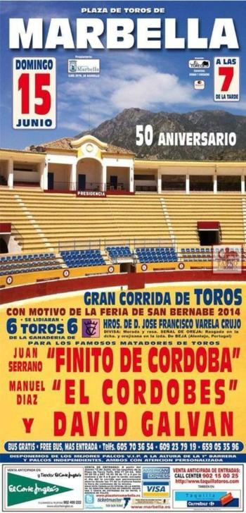 O cartaz dos Varela Crujo em Marbelha (Espanha)