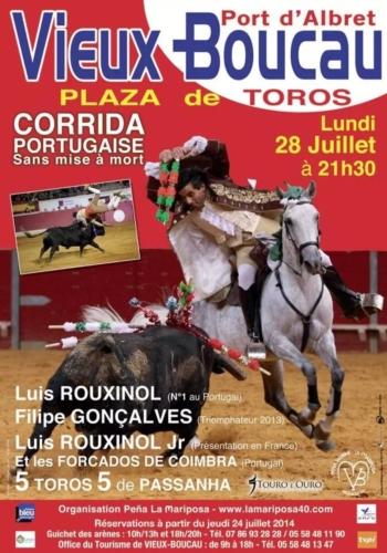 Corrida de toiros à portuguesa 28 de Julho, em Vieux Boucau