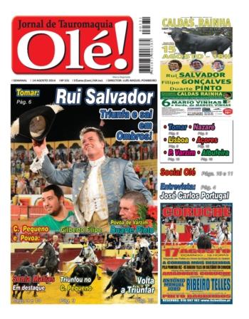 Capa do Jornal Olé - Hoje nas Bancas