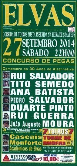 Elvas, triunfo de Duarte Pinto na segunda de S. Mateus.