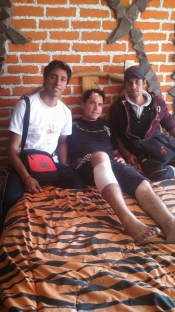 Diogo dos Santos recupera de cornada