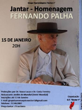Sector 1 irá homenagear Fernando Palha