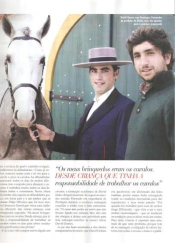 David Gomes hoje na revista
