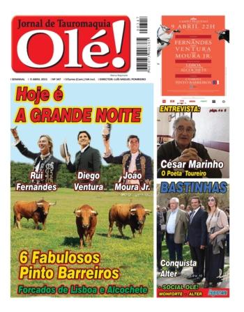 Capa do jornal Ole nº347 - hoje nas bancas