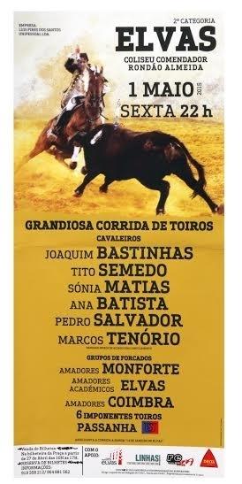 Vencedores do Passatempo para a Corrida de hoje, em Elvas, dia 1 de Maio