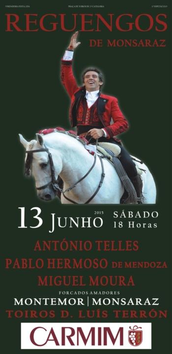 Cartaz de 13 de Junho em Reguengos de Monsaraz