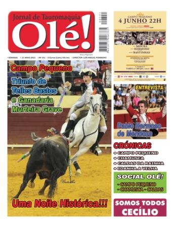 Capa do jornal Ole nº 351 - já nas bancas!