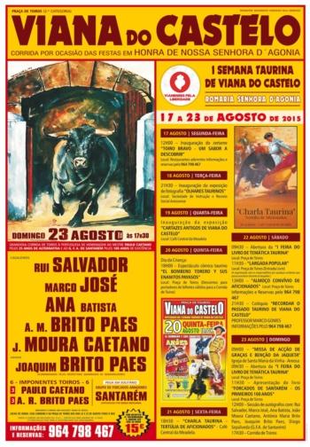 Corrida de toiros em Viana do Castelo a 23 de Agosto