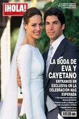 !Hola! dedica reportagem ao casamento de Cayetano e Eva