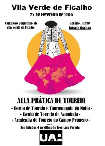 27 de Fevereiro Aula Prática de toureio em Vila Verde de Ficalho