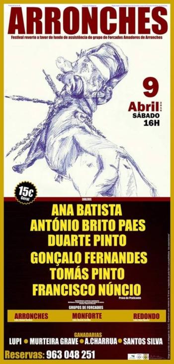 Festival Taurino de Arronches a 9 de Abril