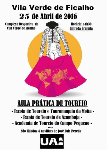 Dia 25 de Abril há aula prática de Toureio em Vila Verde de Ficalho